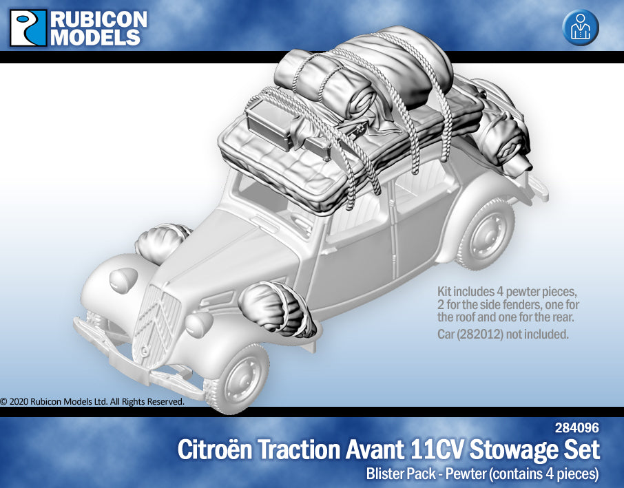 Citroën Traction Avant 11CV Stowage Set- Pewter