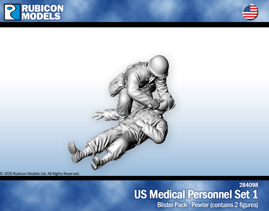 US Medical Personnel Set 1- Pewter