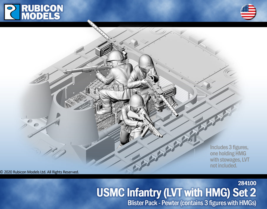 USMC Infantry - LVT with HMG Set 2- Pewter