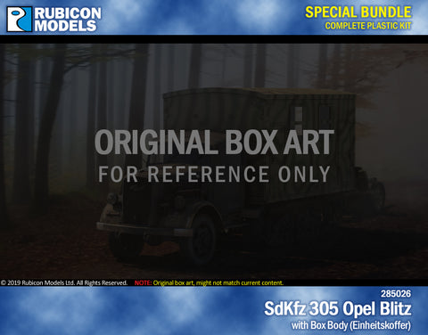 SdKfz 305 Opel Blitz with Box Body Bundle Special: 280026+280047
