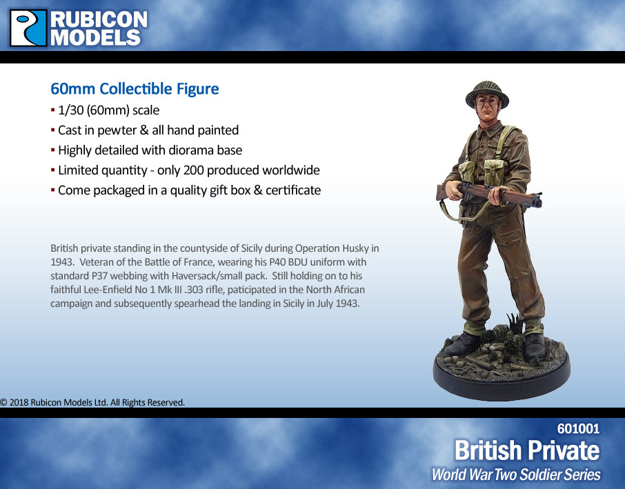 Set of 4 World War Two Soldiers- Pewter 60mm