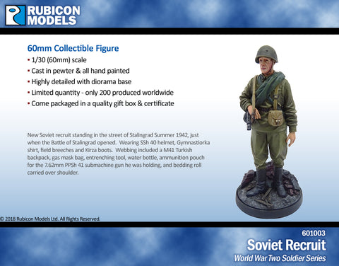 Soviet Recruit- Pewter 60mm