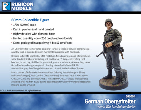 German Obergefreiter- Pewter 60mm
