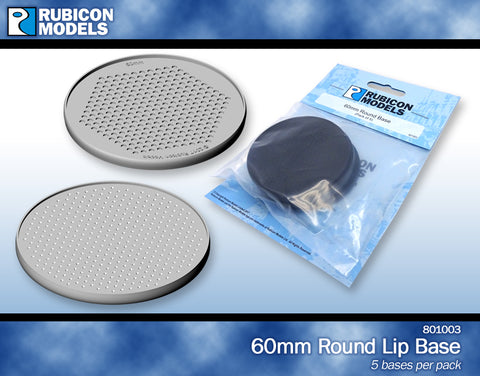 60mm Round Bases- 1 Package of 5 Bases