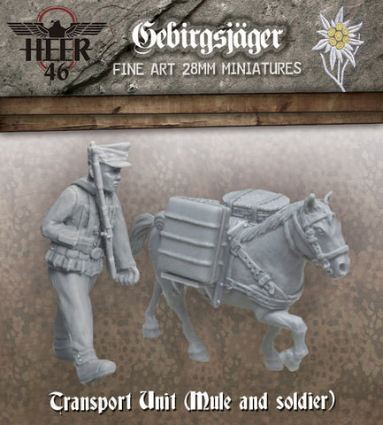 ~Heer46 Gebirgsjäger Transport Unit- Pewter