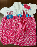 Monogramed Baby Gown