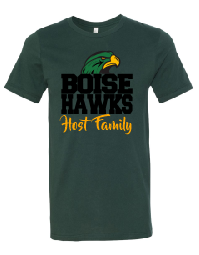 Boise Hawks Host Family (Hawk Design) Bella + Canvas - Unisex Short Sleeve Jersey Tee