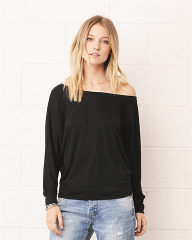 Hollywood Stars Flowy Long Sleeve Off Shoulder Tee