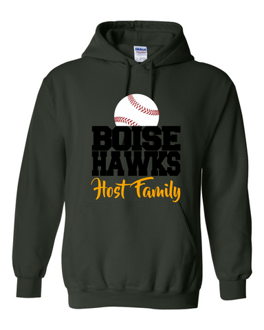 BOISE HAWKS HOST FAMILY (BASEBALL DESIGN) - Heavy Blend Hooded Sweatshirt