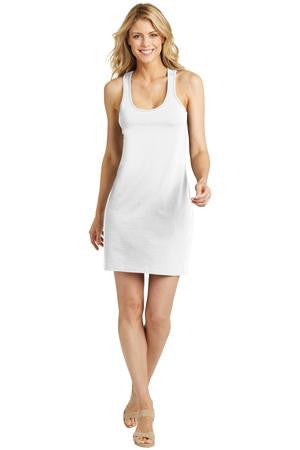 Scentseller Group- District Made® Ladies White 60/40 Racerback Dress