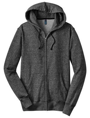 Dreams Don't Work Unless You Do - Unisex Marled Fleece Full Zip Hoodie