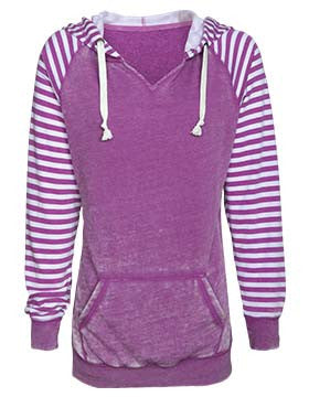 Escape to South Africa - Ladies Striped Chalk Fleece Pullover