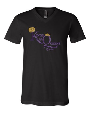King and Queens of Wax- Bella V-neck UNISEX fit