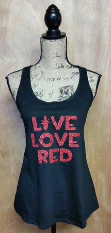 Live Love Red Racerback Tank Top