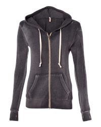 King and Queens of Wax--- Women's Angel Fleece Sanded Full-Zip Hooded Sweatshirt