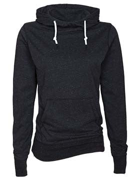 Tribe Wickless- Ladies Long Sleeve Funnel Neck Hooded Tee