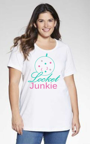 Locket Junkie - Perfect Scoop Neck Tee