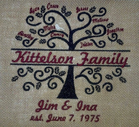 Family Tree Burlap Wall Hanging
