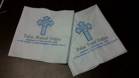 Personalized Baptism Towels! Custom baptismal towels!