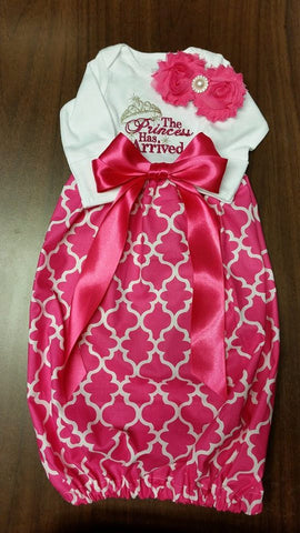 The Princess Has Arrived Baby gown