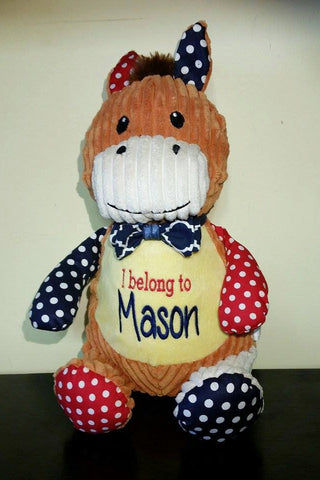 Personalized Harlequin Horse stuffed animals