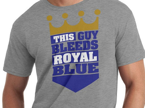 This guy bleeds royal blue t-shirt - custom - any color