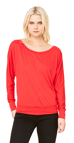 Wife Mom Boss - Bella Canvas Long sleeve Off Shoulder Tee