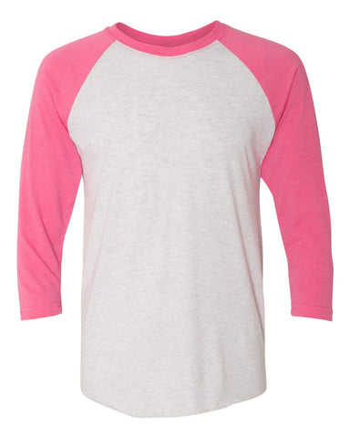 ignite & empower - Unisex Tri-Blend Three-Quarter Sleeve Raglan Tee