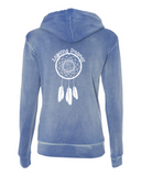 INSPIRING DREAMERZ-Women's Angel Fleece Sanded Full-Zip Hooded Sweatshirt