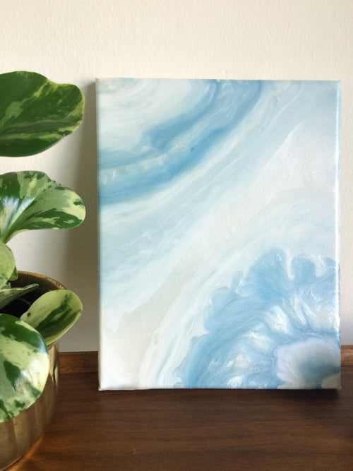 Blue Lace Agate I, an original, ready-to-ship, canvas painting