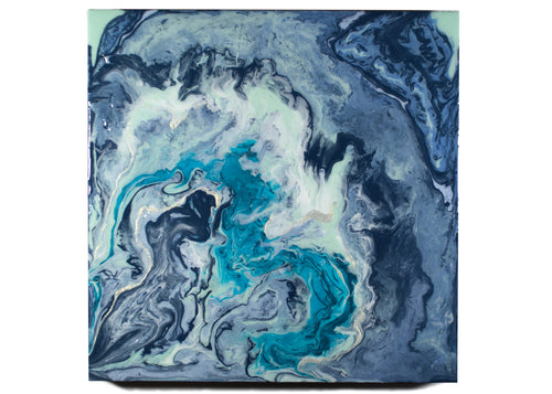 The Meander Agate, an original, ready-to-ship painting on wood panel