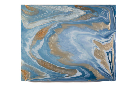 Metallic Agate III, an original, ready-to-ship painting on wood panel