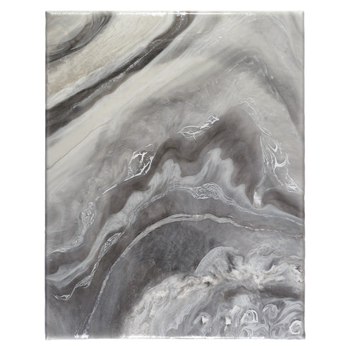 Shining Gray Agate, an original, ready-to-ship, canvas painting
