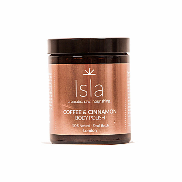 Isla Apothecary Coffee and Cinnamon Body Polish Hero London