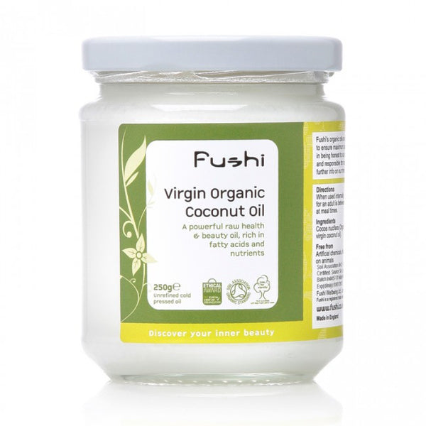 Fushi Organic Virgin Cold Pressed Coconut Oil Hero London
