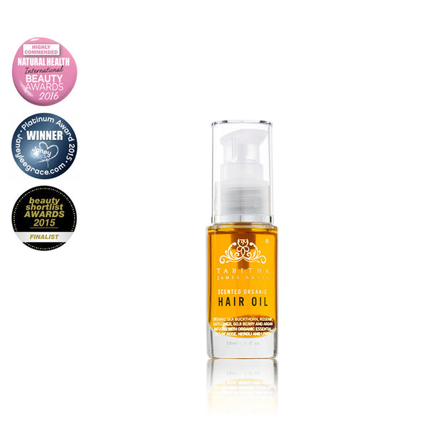 Tabitha James Kraan Scented Organic Hair Oil Hero London
