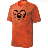 ST370 ROCKFORD NEON ORANGE CAMOHEX RAM HEAD MOISTURE WICKING