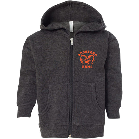 3346 Kids Rockford Rams Zip Hood