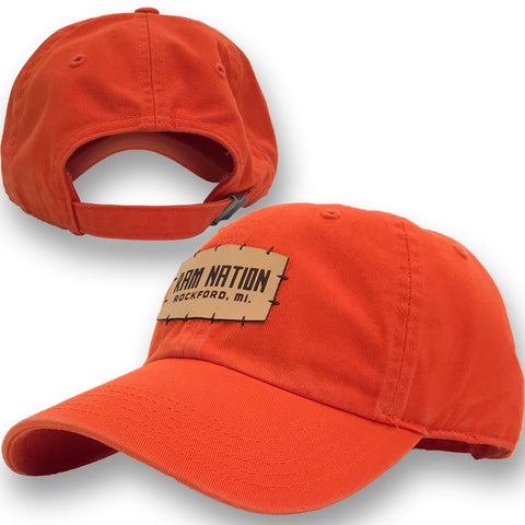 ROCKFORD MICHIGAN ORANGE RAM NATION HAT