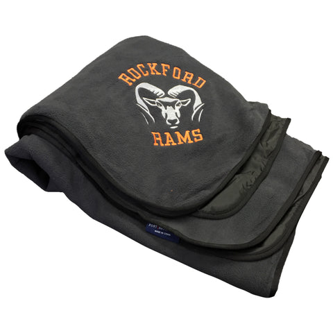 ROCKFORD RAMS EMBROIDERED BLANKET HEAVY WEIGHT