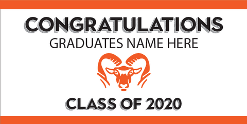 GRADUATION BANNER #3 - (PERSONALIZED)
