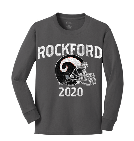 Rockford Football 2020 Youth Long Sleeve Core Cotton Tee