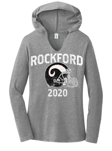 Rockford Football 2020 Ladies District ® Perfect Tri ® V Neck Hoodie