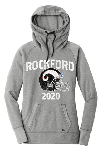 Rockford Football 2020 New Era® Ladies Tri-Blend Fleece Pullover Hoodie