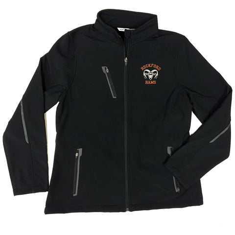 LADIES ROCKFORD RAMS SOFT SHELL JACKET
