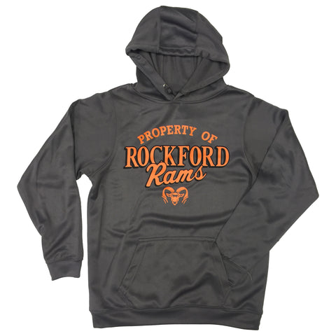 PROPERTY OF ROCKFORD RAMS PULLOVER HOOD
