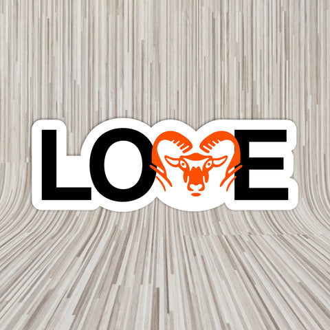 LOVE ROCKFORD VINYL DECAL