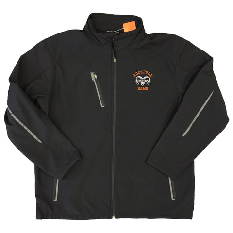 MENS ROCKFORD RAMS SOFT SHELL JACKET