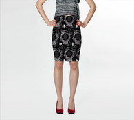 Gypsy Mistress Pencil Skirt - Mischievous Design
