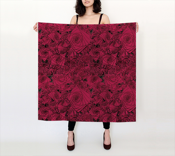 Painting the Roses Red Big Scarf - Mischievous Design